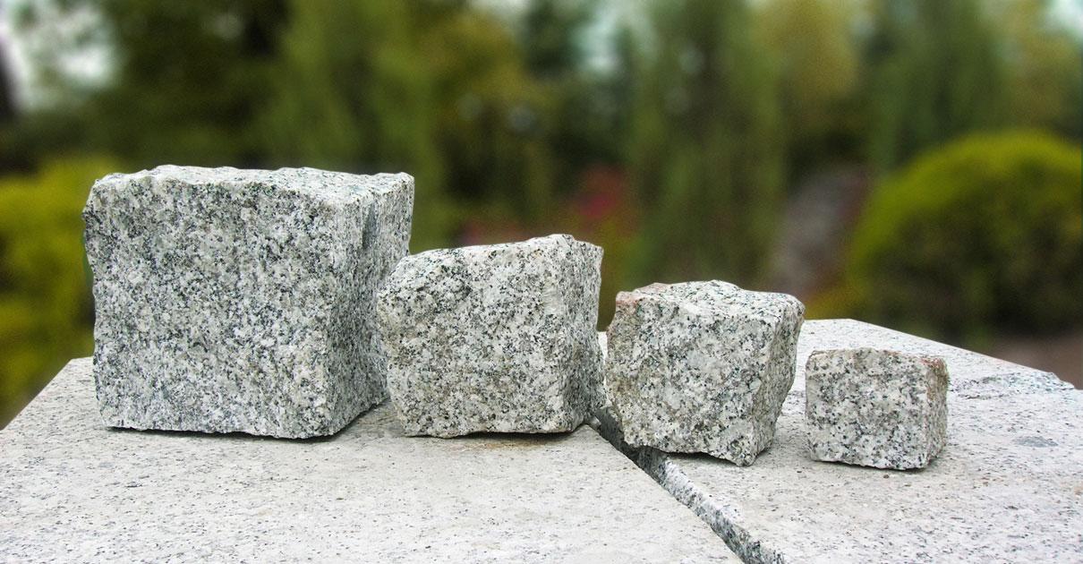 Kostki granitowe różne rozmiary