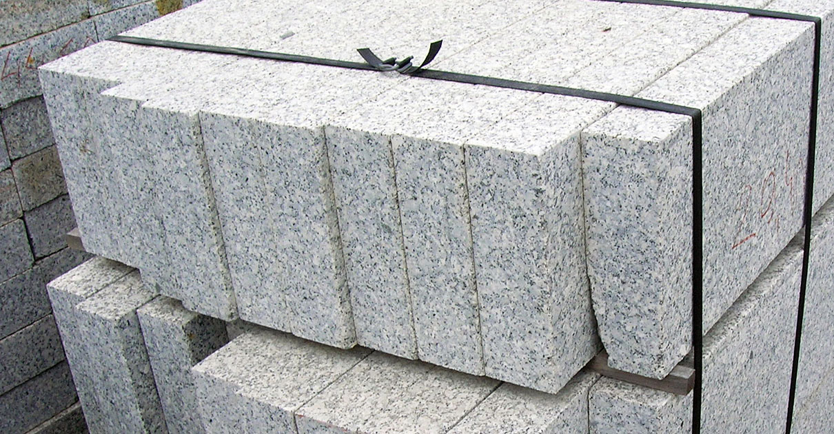 Granite curbs and edging stones